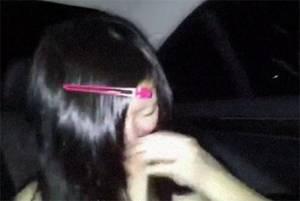 【無修正・個人撮影】 すっぴんで照れる少女に車の中でハメ撮りして中出し!!