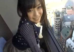 【秋月めい】 超絶美女と高層ホテルの窓際でエッチって憧れる・・撮影されながらパコパコ